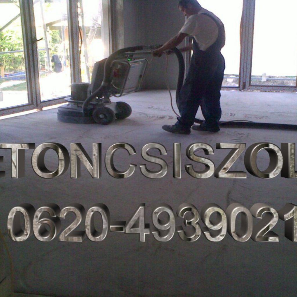 betoncsiszolás garanciával